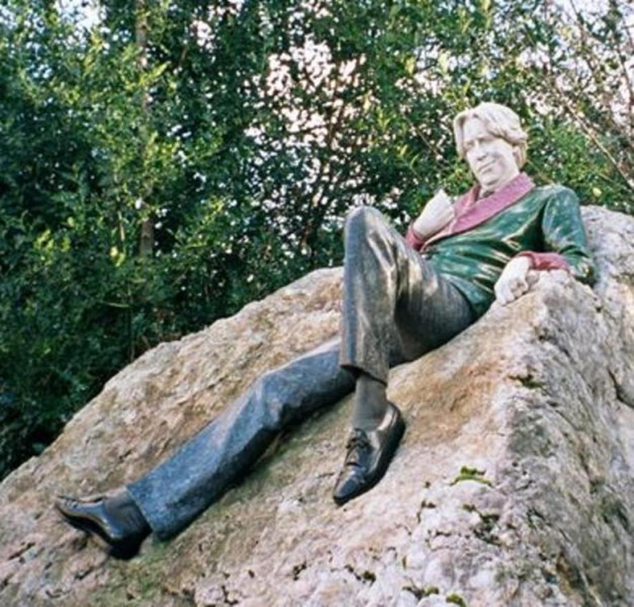 Estatua de Oscar Wilde en Dublín